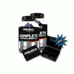 Complete Vitamin Minerals (100 Tabs) 2 unidades + Porta Cápsula